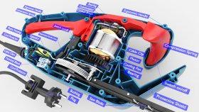 Diagram Hedge Trimmer Parts 3D Model 1
