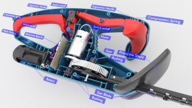 Hedge Trimmer Battery Inside infographic 3d (1)