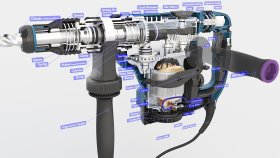 Hammer Electric SDS Rotary Drill Inside 3d (3)
