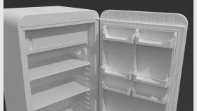 Refrigerator retro vintage 3d (1)