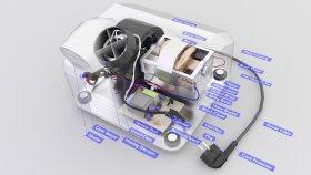 Hand Dryer Lowpoly Inside 3d (1)