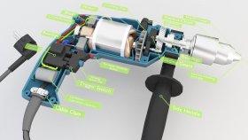 Inside Power Drill Lowpoly 3d (1)
