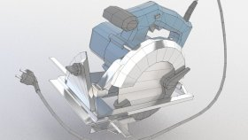 Power Circular Saw Low poly 3d (1)