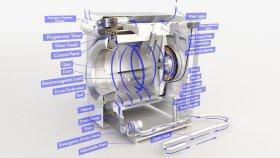 Inside Washing Machine Lowpoly 3d