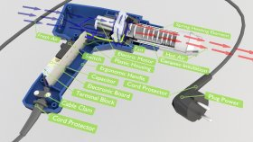 Inside Heat Gun Lowpoly 3d (1)