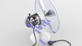 Lowpoly Fan Retro Inside 3d (1)