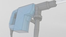 Lowpoly Hammer Electric SDS Rotary Drill 3d (3)
