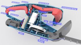 Lowpoly Hedge Trimmer battery Inside infographic 3d (2)