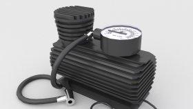 Lowpoly Mini Portable Car Air Compressor 3d (1)