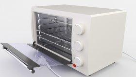 Lowpoly Mini Oven 3d (1)