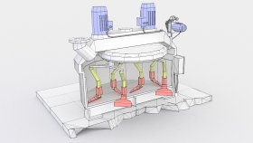 Low Inside Planetary Concrete Mixer 3d (1)