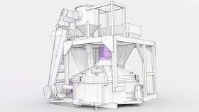 Low Planetary Concrete Mixer 3d (3)