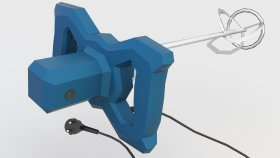 Lowpoly Hand Held Electric Cement Mixer 3d (1)