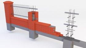 Fence Brick Inside 3d (3)