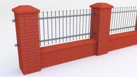 Fence Brick 3d (4)