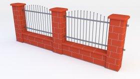 Fence Brick Block 3d (7)