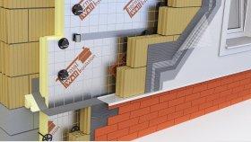 Wall Inside Triple Brick Walls Plastering Mortar PUR & PIR 3d (19)