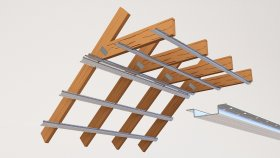 Attic Wooden Beams and Metal Profile 3d (12)