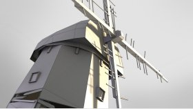 Windmill Game 3D Model Low Poly