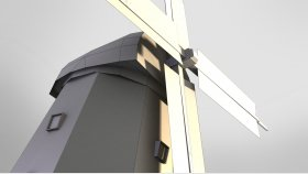 Windmill Low Poly Game Mods 3D Model