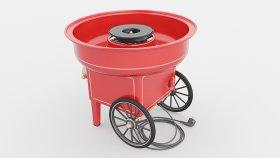 Cotton Candy Machine 3D Model 1