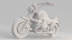 Lowpoly Motorcycle Chopper 3d