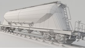 Powder Tank Wagon 3D Model Uacns noUV 12