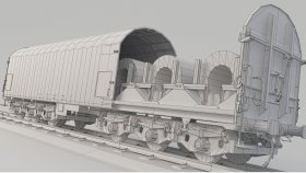 Steel Coil Train 3D Model Low Poly noUV 9