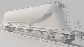 Bulk Powder Cement Wagon 3D Model Uacns noUV 12