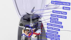 Countertop Blender 3D Model Diagram 1
