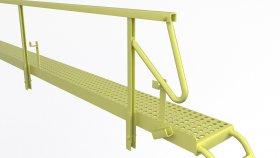 Industrial Steel Service Platform 3D Model 1