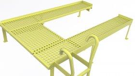 Industrial Crossover Service Platform 3D Model 2