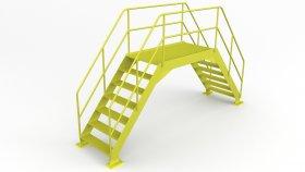Rooftop Crossover Platform 3D Model 7