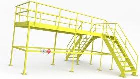 Industrial Crossover Platform 3D Model 10