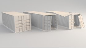 Lowpoly container Game model