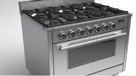 Commercial Gas Oven Range Cooker 3D Model 2
