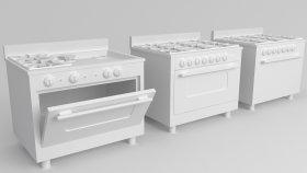 Commercial Range Kitchen Simulator Game 3D Model 1