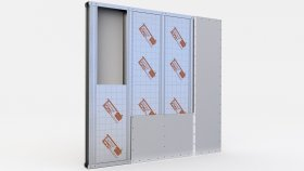 Wall inside Insulation Sound Partitions 3d (28)