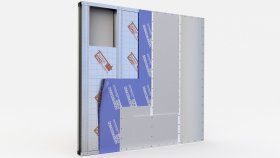 Wall inside Insulation Sound Partitions 3d (27)
