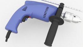 Power Drill 1 3d