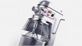 Commercial Food Mixer 3D Model 4