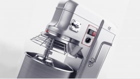 Stainless Steel Commercial Food Mixer 3D Model 5