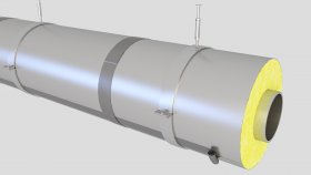 Cover Pipes Insulation Inside 3D Model 1