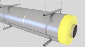 Cover Insulation Pipe Inside 3D Model 3