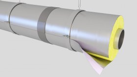 Pipes Insulated Inside 3D Model 4