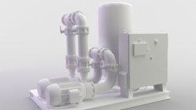 Sewage Pump Station Plant 3D Model 2 Low Game Mods