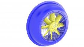 Fan Industrial Ventilation 3d 32