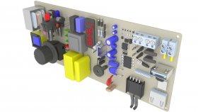 Electronics Board 3d 12