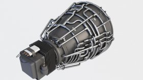 Engine Jet Nnozzle 3d 1