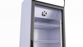 Supermarket Refrigerator Drinks & Beverage 3D Model 1